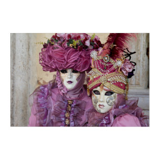 Purple Carnival costume, Venice Acrylic Print