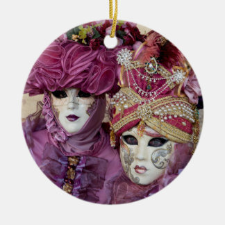 Purple Carnival costume, Venice Ceramic Ornament