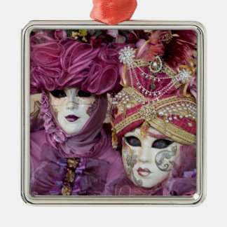 Purple Carnival costume, Venice Metal Ornament