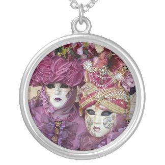 Purple Carnival costume, Venice Silver Plated Necklace