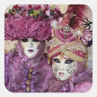 Purple Carnival costume, Venice Square Sticker