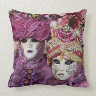 Purple Carnival costume, Venice Throw Pillow