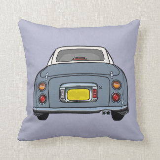 Purple cartoon car Nissan Figaro pillow cushion
