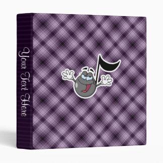 Purple Cartoon Music Note Binders