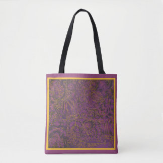 Purple Carving Tote Bag