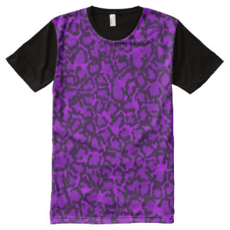 Purple Cat All-Over-Print T-Shirt