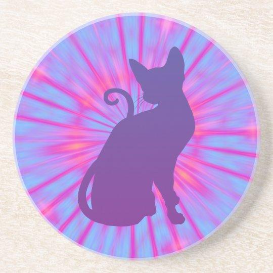Purple Cat Coaster