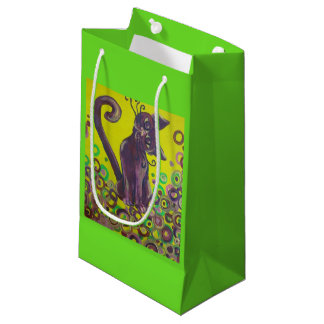 purple cat gift bag