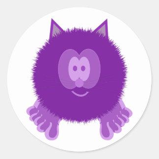 Purple Cat Pom Pom Pal Stickers