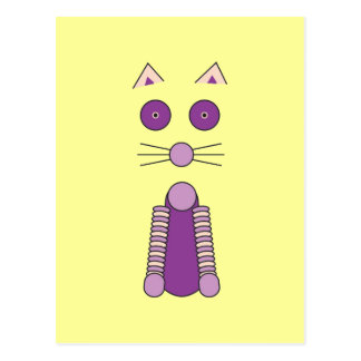 Purple CAT Postcard