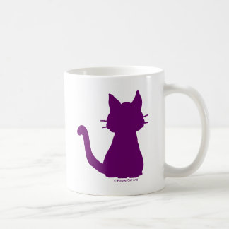 Purple Cat Silhouette Coffee Mug