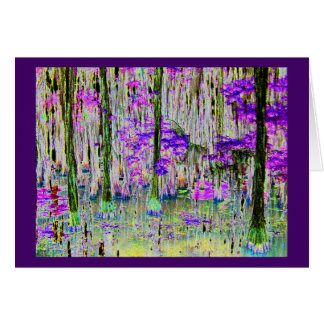 Purple Cedars Card