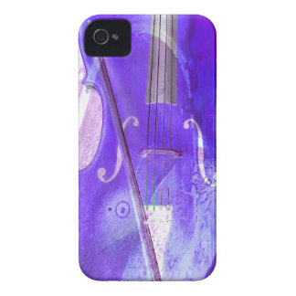 Purple cello illustration iPhone 4 Case-Mate cases