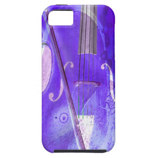 Purple cello illustration iPhone 5 case