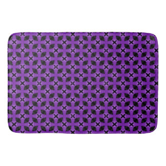 Purple Celtic Cross Bathroom Mat