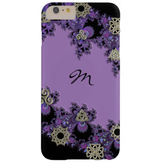 Purple Celtic Fractal Monogram iPhone 6 Plus Case