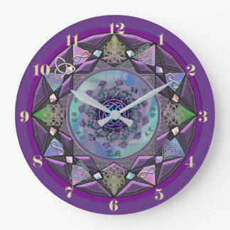 Purple Celtic Mandala Wall Clock