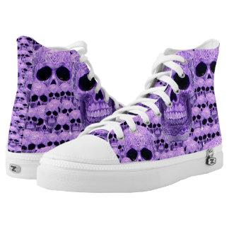 Purple celtic skull pattern high tops