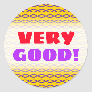 Purple Chain-Like Pattern on a Yellow Background Classic Round Sticker