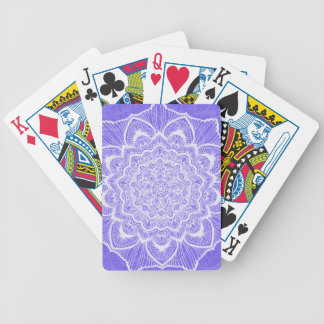 Purple Chakra Blossom, boho, new age, spiritual Bicycle Playing Cards