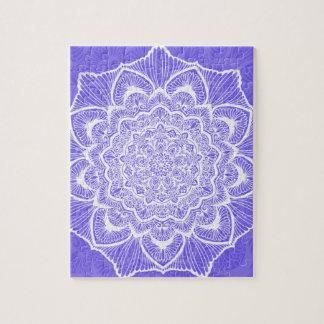 Purple Chakra Blossom, boho, new age, spiritual Jigsaw Puzzle