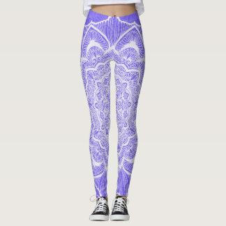 Purple Chakra Blossom, boho, new age, spiritual Leggings