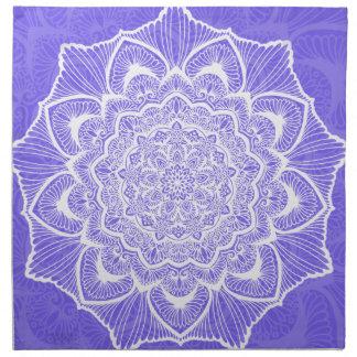 Purple Chakra Blossom, boho, new age, spiritual Napkin
