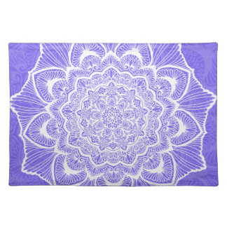 Purple Chakra Blossom, boho, new age, spiritual Placemat