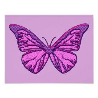 Purple Check Butterfly Card