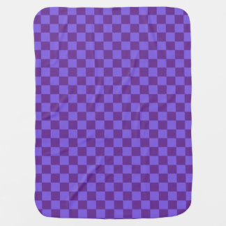 Purple Checkered Baby Blankets