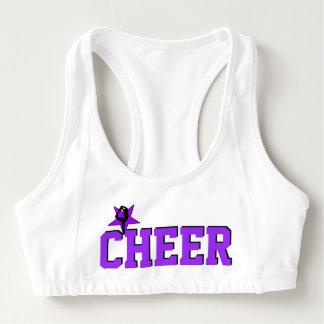 Purple Cheerleader sports bra