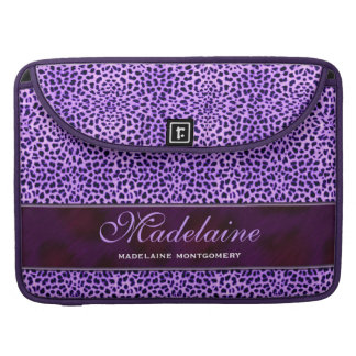 Purple Cheetah Wild Animal Print Sleeve For MacBook Pro