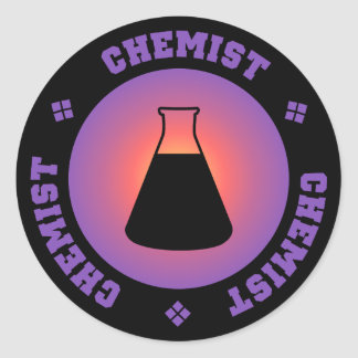 Purple Chemist Sticker