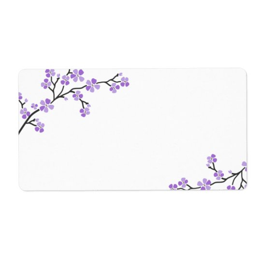 Purple Cherry Blossom Labels