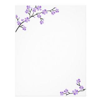Purple Cherry Blossom letterhead