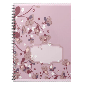 Purple Cherry Blossom Notebook