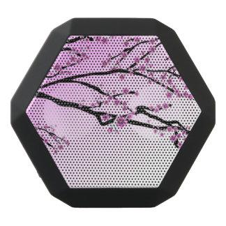 Purple Cherry Blossom Sakura Black Bluetooth Speaker