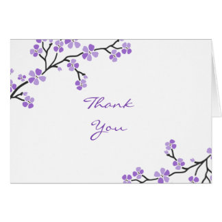 Purple Cherry Blossom Thank You cards
