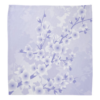 Purple Cherry Blossoms Flowers Bandana