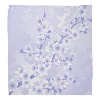 Purple Cherry Blossoms Flowers Bandannas