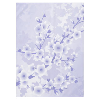 Purple Cherry Blossoms Flowers Tablecloth