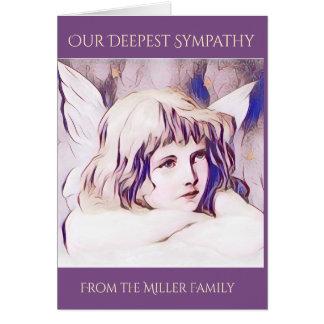 Purple Cherub Angel Sympathy Card