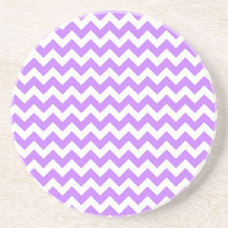 Purple Chevron and Zig Zag Coaster