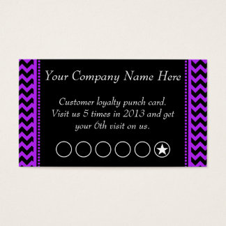 Purple Chevron Discount Promotional Punch Card