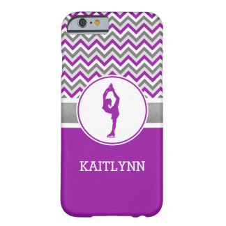 Purple Chevron Figure Skater iPhone 6 Case