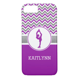 Purple Chevron Figure Skater iPhone 7 Case