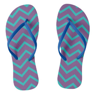 Purple Chevron Flip Flop