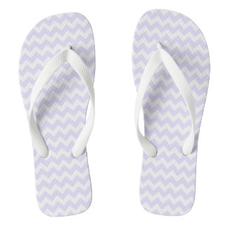 Purple Chevron Flip Flops