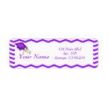 Purple Chevron Graduation Address Labels