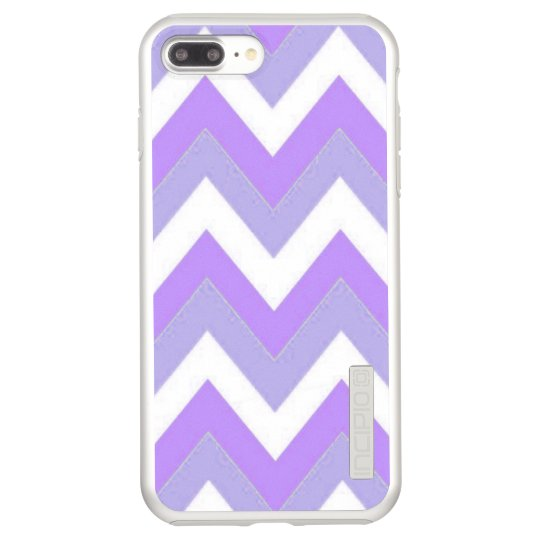 Purple Chevron Incipio DualPro Shine iPhone 8 Plus/7 Plus Case